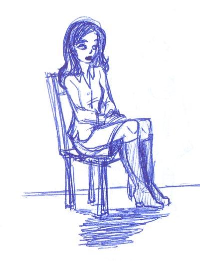 AriAnn sits