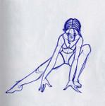 girl leans