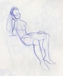 sb girl sits