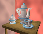 My crappy 3D teapot and cups