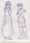 Jill Pole and Eustace Scrubb from The Chronicles of Narnia