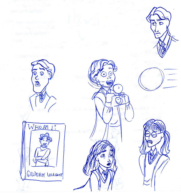 Several key characters from Harry Potter and the Chamber of Secrets
