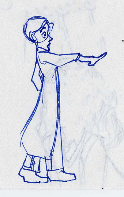 """A sketch of Ernie MacMillan dramatically accusing Harry... """"Caught in the act!"""""""