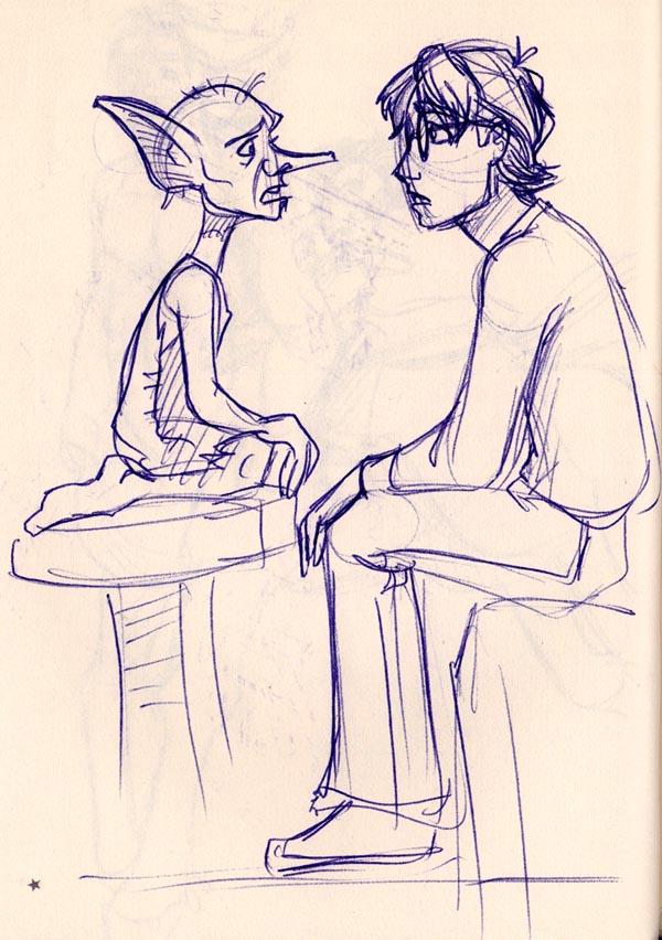 Harry meets Dobby the House Elf