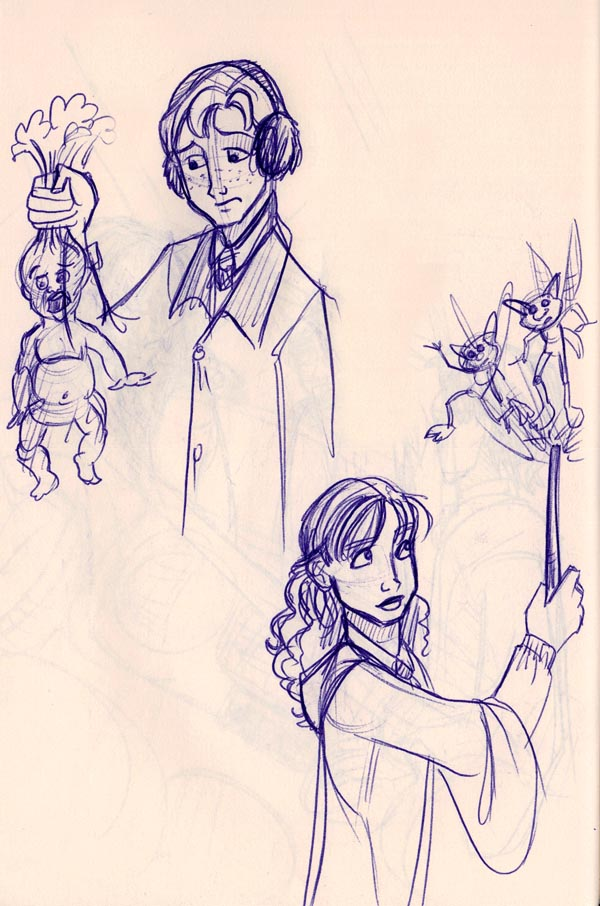 Ron struggles with mandrakes and Hermione handles Cornish pixies