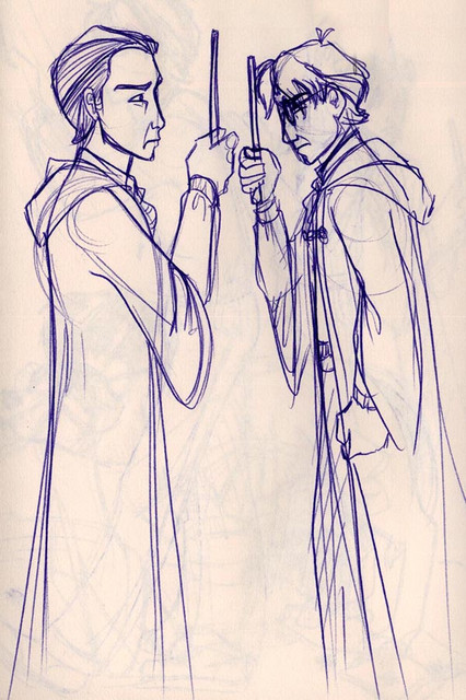 Bitterness resurfaces as Harry and Draco face off during the Duelling Club