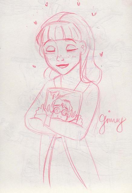 Ginny harbors a secret crush on Harry