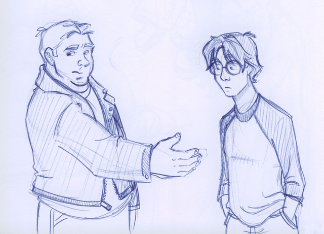"Harry is nonplussed when ""Big D"" offers his hand as a semi-friendly goodbye gesture."