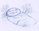 Harry manually digs a grave, and leaves a simple tombstone as a tribute to his dear old friend.