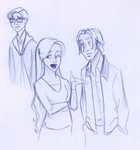 When Percy appears to fight the Death Eaters, Fleur breaks the unbearable tension by asking Lupin about Teddy.