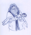 Hagrid, believing Harry is dead, is forced to carry the body back to Hogwarts.
