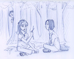 In the Penseive, Harry watches young Snape introduce the wizarding world to Lily Evans.