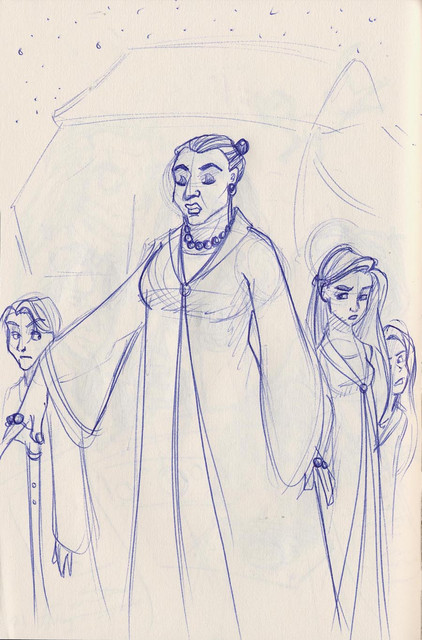 The Beauxbatons Academy guests arrive