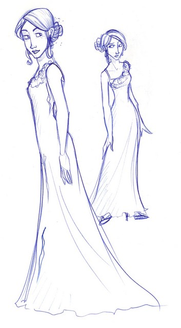 Fleur in her stunning dress robes