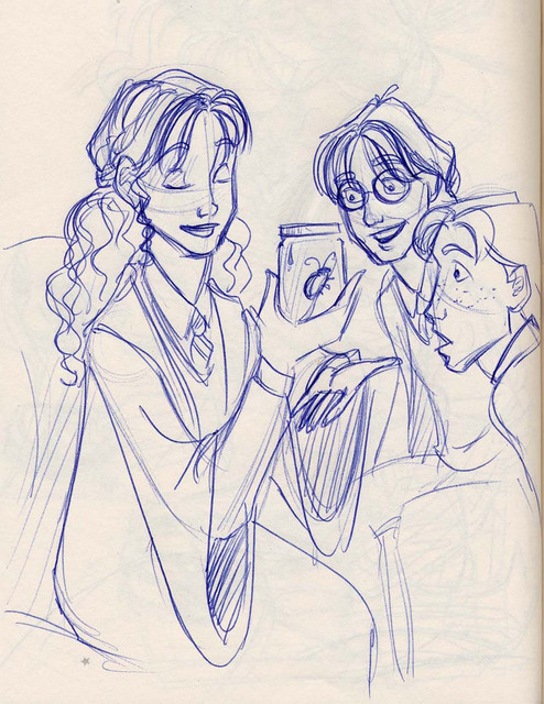 Hermione brandishes the jar containing an unregistered animagus