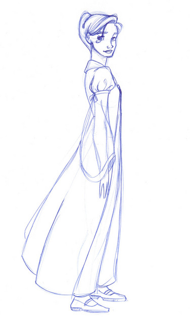 A new design of Hermione in her dress robes