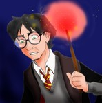 A little bit more colored avatarish drawing of Harry