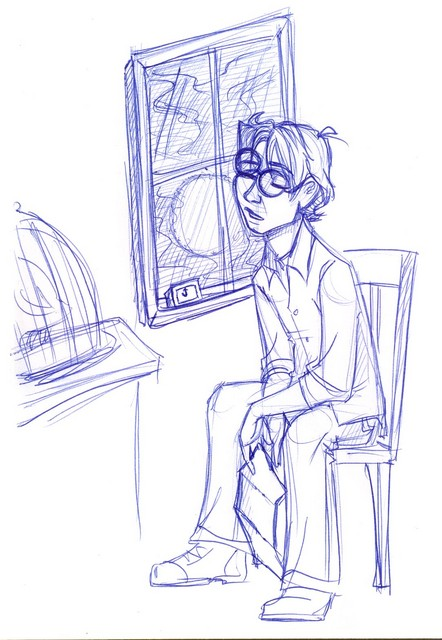 Harry falls asleep at the window, waiting to see if Dumbledore will indeed appear in Surrey