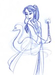 Cho produces a graceful and beautiful swan-shaped patronus