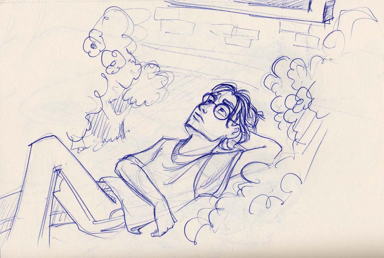 Harry eavesdrops the news outside the Dursleys' living room window