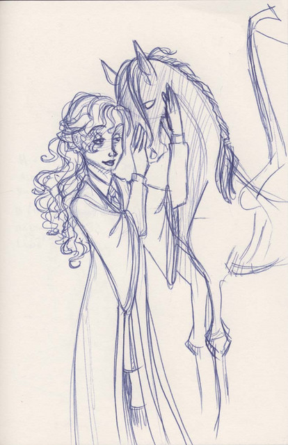 Luna is among the only students at Hogwarts that can see the thestrals