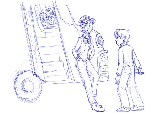 Harry inadvertently meets Stan and Ern, the operators of the Knight Bus