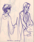 Harry practices the Patronus Charm with Professor Lupin