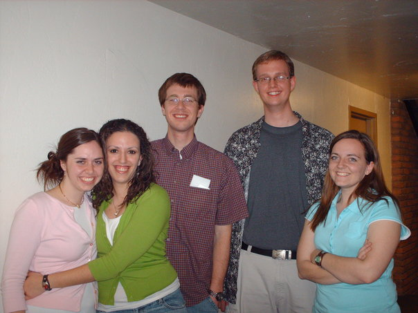 Megan, Miri, Geoff, Jared, and Samwise - more admiring fans