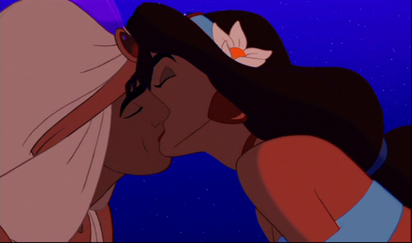 princess jasmine and aladdin kissing. Animated Heroes . . . Aladdin