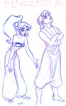 """Aladdin and Jasmine have an argument because of her """"meaningless"""" kiss with Jafar..."""