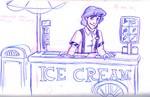 Aladdin takes his turn in the College Program, selling ice cream at Walt Disney World