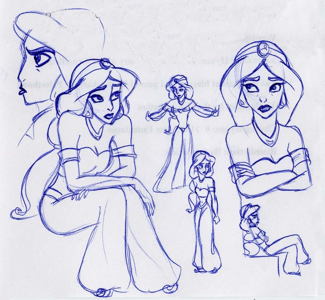 A montage of the Princess of Agrabah being most displeased
