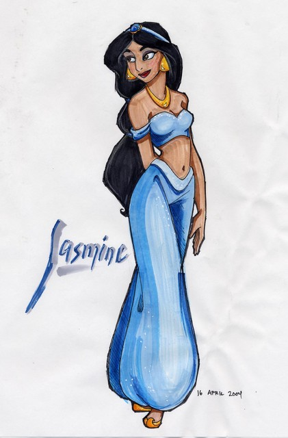 Jasmine (done with PrismaColor markers)