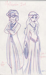 Aladdin as Harry Potter and Jasmine as Galadriel
