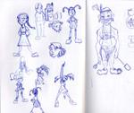Concept art for Shel Silverstein's Pamela Purse