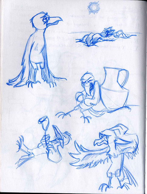 Character designs for The Crow and the Pitcher
