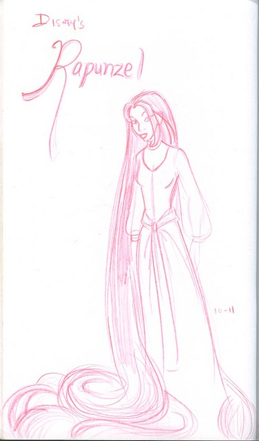 Rapunzel concept art (which I've been doing for over a decade)
