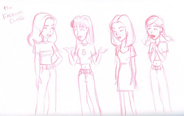 The Fashion Club (Sandi Griffin, Quinn Morgendorffer, Tiffany Blum-Deckler, Stacey Rowe)