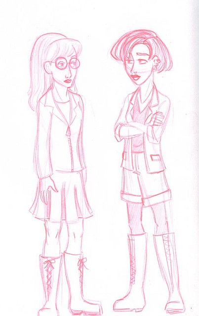 Daria and Jane in Disney style