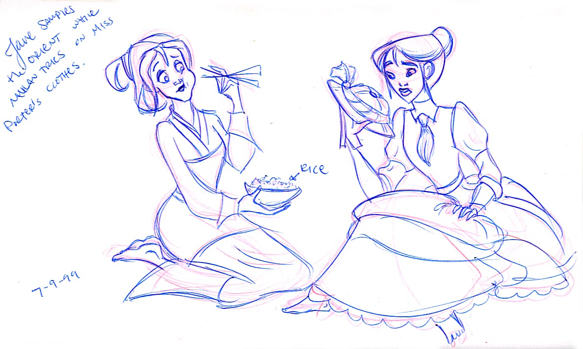 Jane and Mulan give each others' look a try