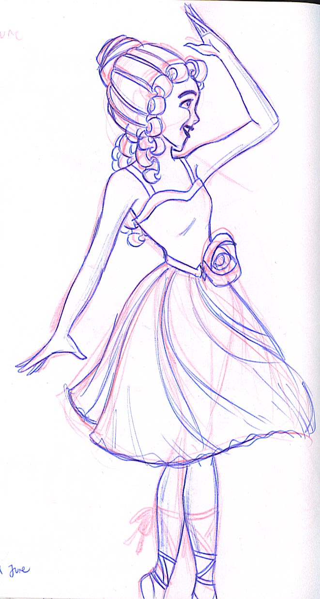 The ballerina from Fantasia 2000
