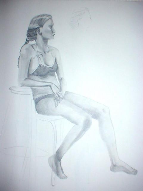 fs girl sits side