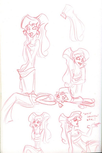Meg sketches