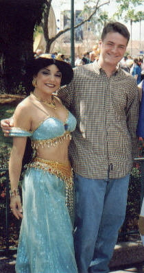 Me and the love of my life.... (Aladdin was also in this picture, but a quick cropping job did the trick...)