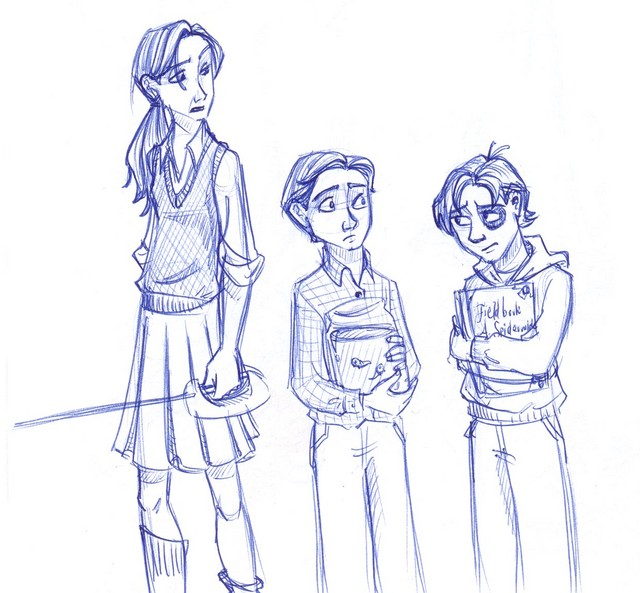 Mallory, Simon and Jared Grace, from the Spiderwick Chronicles