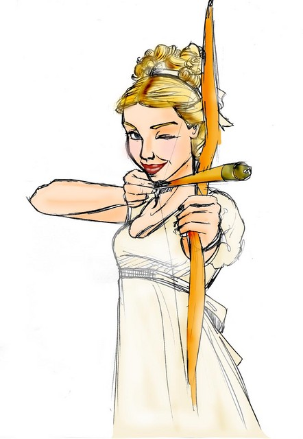 A colored version of Gwyneth Paltrow as Emma
