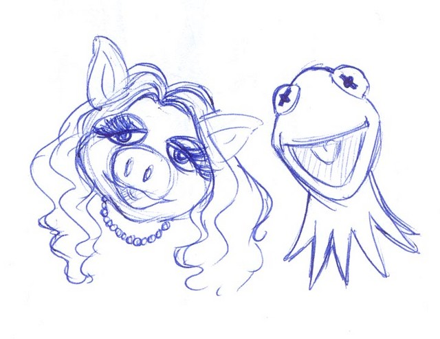 A random drawing of our favorite pig and frog