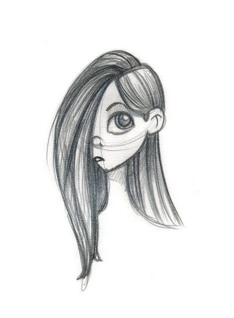 A girl loosely based on Violet Parr
