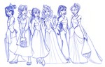 The girls at Hogwarts had remarkably similar counterparts in the world of Disney