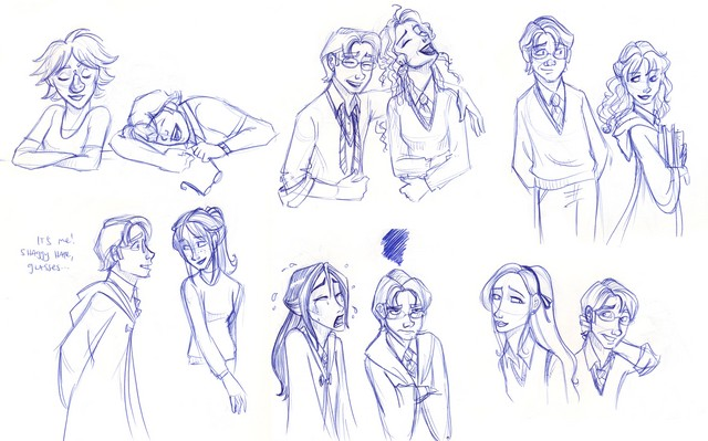 An idea from another HP artist...  My feelings toward the girls of HP